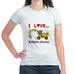 I Love Rubber Ducks Jr. Ringer T-Shirt