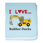 I Love Rubber Ducks baby blanket