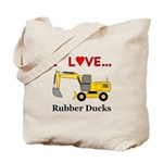 I Love Rubber Ducks Tote Bag