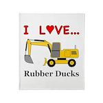 I Love Rubber Ducks Throw Blanket
