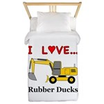 I Love Rubber Ducks Twin Duvet