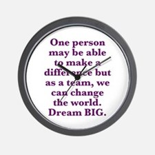 Team World Change Wall Clock