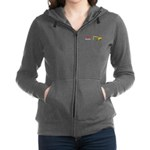 I Love Ducks Women's Zip Hoodie