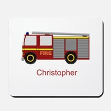 Personalized Fire Engine Design Mousepad