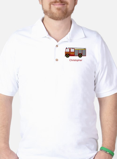 Personalized Fire Engine Design T-Shirt