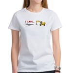 I Love Diggers Women's T-Shirt