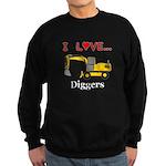 I Love Diggers Sweatshirt (dark)