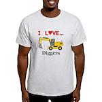I Love Diggers Light T-Shirt