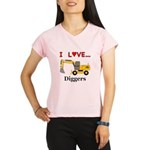 I Love Diggers Performance Dry T-Shirt