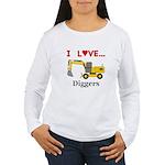 I Love Diggers Women's Long Sleeve T-Shirt