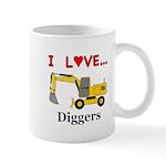I Love Diggers Mug