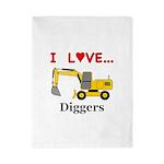 I Love Diggers Twin Duvet