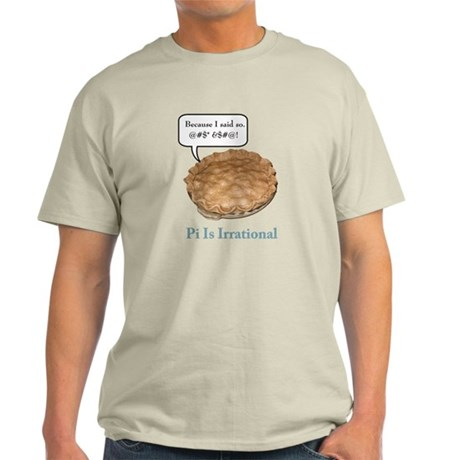Irrational Pi Light T-Shirt