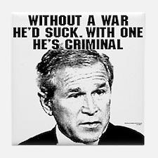 Bush and War Tile Coaster