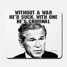 Bush and War Mousepad