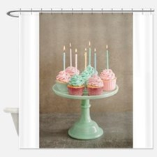 Birthday cupcakes Shower Curtain