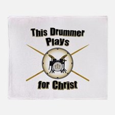 Drum For Christ Throw Blanket