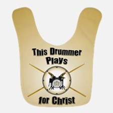 Drum For Christ Polyester Baby Bib