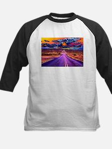 Psychedelic road scene Baseball Jersey