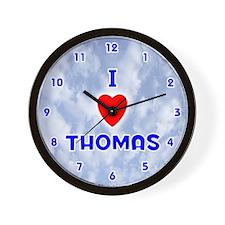 I Love Thomas (Blue) Valentine Wall Clock