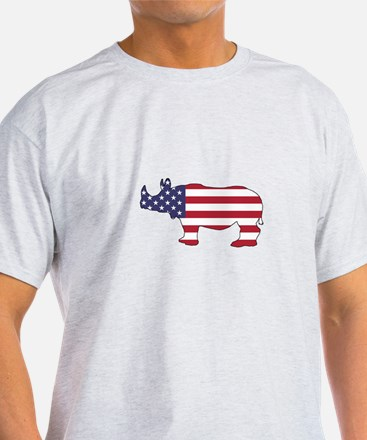 Rhinoceros - American Flag T-Shirt