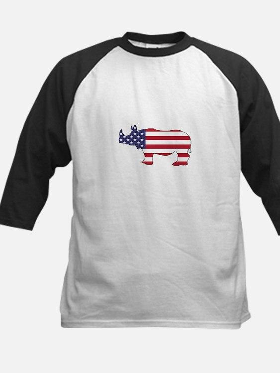 Rhinoceros - American Flag Baseball Jersey