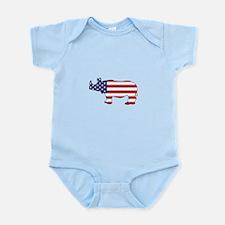Rhinoceros - American Flag Body Suit