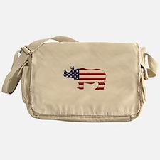 Rhinoceros - American Flag Messenger Bag