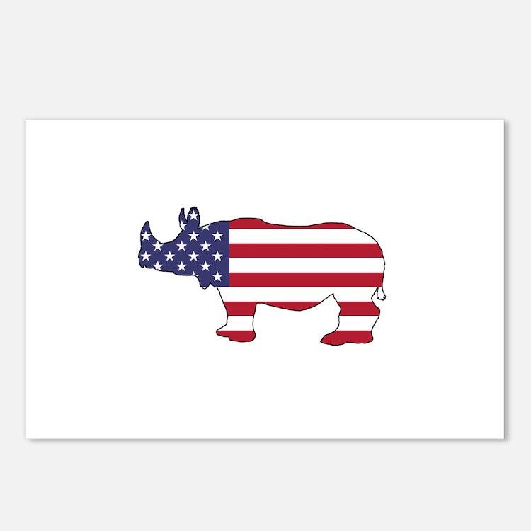 Rhinoceros - American Fla Postcards (Package of 8)