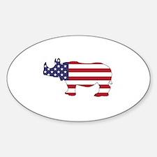 Rhinoceros - American Flag Decal
