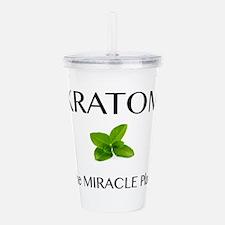 Kratom Miracle Acrylic Double-wall Tumbler