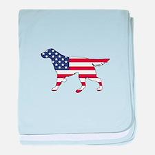 Setter - American Flag baby blanket