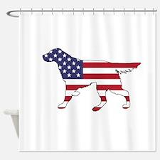 Setter - American Flag Shower Curtain
