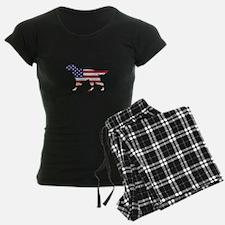 Setter - American Flag Pajamas