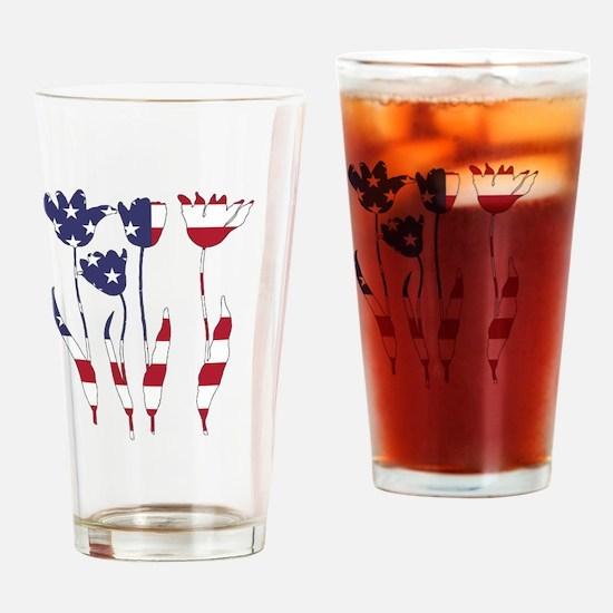 Cute Tulips Drinking Glass