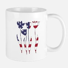 American Flag - Tulips Mugs