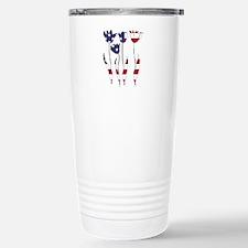 American Flag - Tulips Stainless Steel Travel Mug