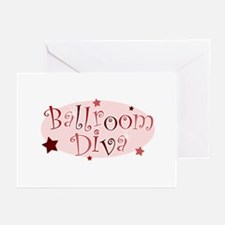 """Ballroom Diva"" [red] Greeting Cards"