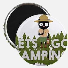 Camping Cat in Park Ranger uniform Magnets