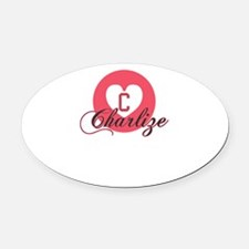 charlize Oval Car Magnet