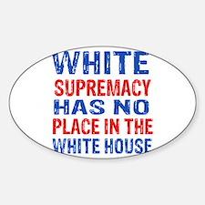 Anti Trump designs Sticker (Oval)