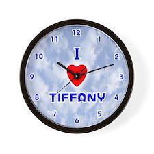 I Love Tiffany (Blue) Valentine Wall Clock
