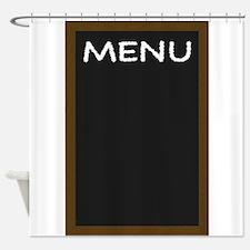 Chalkboard Menu Shower Curtain