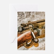 Military Rifle Greeting Cards (pk Of 20)