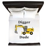 Digger Dude King Duvet