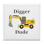 Digger Dude Tile Coaster