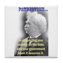 Twain on Patriotism Tile Coaster