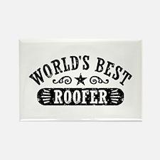 World's Best Roofer Rectangle Magnet