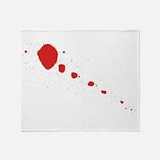 Blood Splatter Throw Blanket