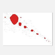 Blood Splatter Postcards (Package of 8)
